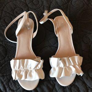 Anthropologie Shellys London white sandals